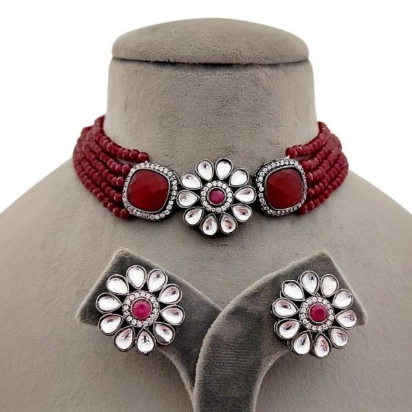 red-Choker-set-mimosaa-collection