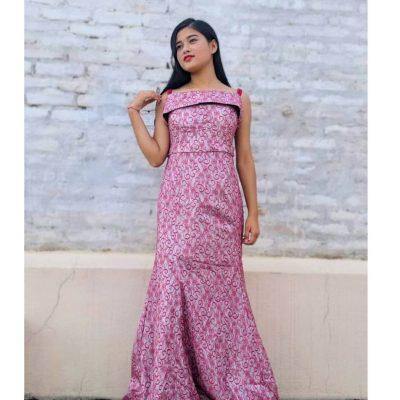 off shoulder gown OS22121